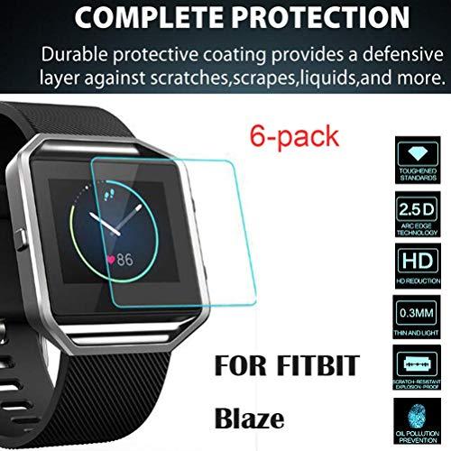 nt Klarer Displayschutzfolie für Fitbit Blaze Schirm Schutz Film Schutzfolie Folie Screen Protector ()