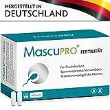 MascuPRO Fertilität für normale Fruchtbarkeit & Spermienproduktion • 60 Kapseln • Folsäure,...