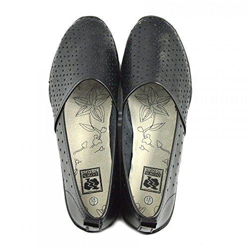 Kick Footwear - Donna Ballerina Del Balletto Di Dolly Pompe Ladies Nero Piatto Mocassini Scarpe Nuove Nero - F80206