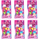 Parteet Birthday Party Return Gifts- Barbie Erasers for Kids (Pack of 6, Multi Color)