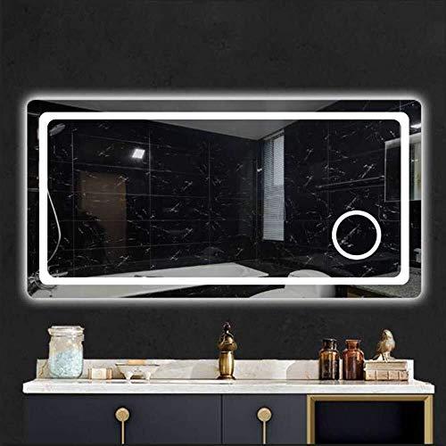 BJYX De Pared Espejo de baño antivaho Espejo de Maquillaje Espejo Relleno Inteligente de luz monocromática...