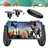 Mobile Game Controller for PUBG 5-in-1 Upgrade Version Gamepad Shoot and Aim Trigger Phone Cooling Pad Power Bank for Android & IOS Fortnite/Knives Out (Mobile Game Controller.)