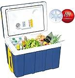 Xcase Kühlbox: Thermoelektrische XXL-Trolley-Kühl- & Wärmebox, 12/24 & 230V, 50 Liter (Auto Kühlbox)