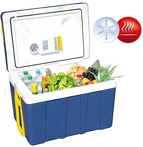 Xcase Mini Kühlschrank: Thermoelektrische XXL-Trolley-Kühl- & Wärmebox, 12/24 & 230V, 50 Liter (Elektrische Kühl und Wärmeboxen)