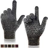 arteesol Touchscreen Handschuhe, Handschuhe Herren Damen Winter Strickhandschuhe für Radfahren Camping (grau)