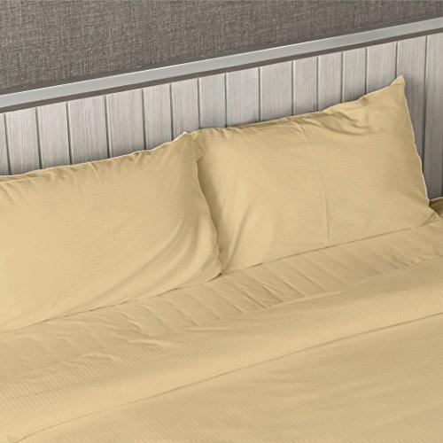 Deep Pocket 1800Zählen Bamboo Series 4Stück Bett Super Soft Tabelle Set alle Größen, cremefarben, Twin/Twin XL -