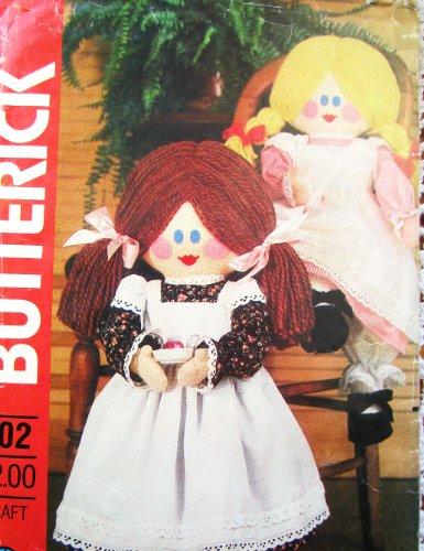 Butterick 202Oder 428Oder 4532Schnittmuster Rag Weiche Skulptur 58,4cm Puppe Latzschürze Pantalons Kleid Schuhe Garn Haar -