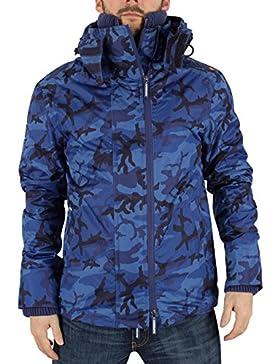 Superdry Hombre Artic Pop Zip Logo Cazadora Jacket, Azul