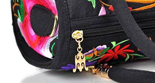 Peony ricamo Handbags–Memorecool Portable design for Girls Lady stile elegante e bella sentimenti 470g flower8 flower1