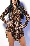 Qurves-Trill Leopard Flared Club Dress