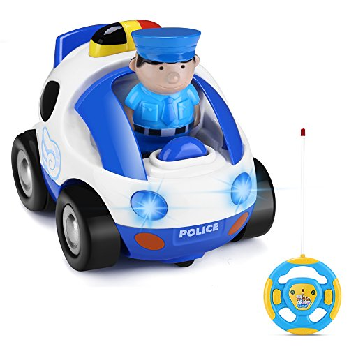 GHB Toy Car Remote Control Car Police Car for Toddlers and Kids