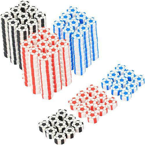 Com-four® 270x mini gomma da cancellare a forma di pallone da calcio - gomma dai colori brillanti - ideale come regalo per i compleanni o per la borsa della scuola [selezione varia]