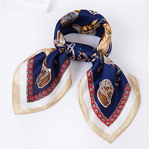 sadf Silk New Scarf Female Spring and Summer Scarf Professional Small Square, D