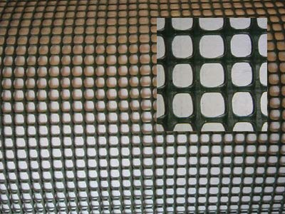 AquaFert Aquaristik Pflanzgitter/Plastikgitter/Moosgitter aus PE-Kunststoff grün eingefärbt Maschenweite 10 mm