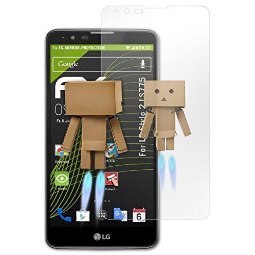 atFolix Displayfolie für LG Stylo 2 LS775 Spiegelfolie, Spiegeleffekt FX Schutzfolie
