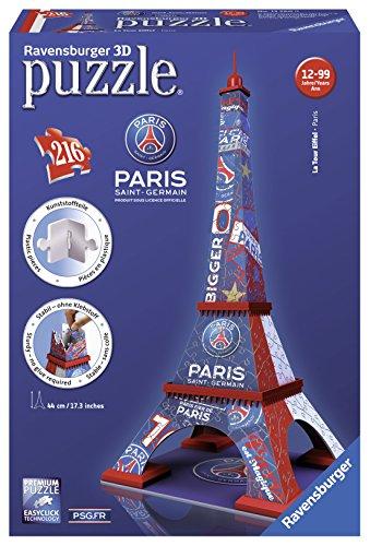 Ravensburger - 12560 - Puzzle - 3D Tour Eiffel PSG - 216 Pièces