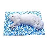 Lh Stuoia fresca dell'animale domestico Auto refrigerante rilievo di raffreddamento del ghiaccio Letto di sonno di estate per i cani Animali domestici Stuoia di ghiaccio Stuoia di estate del gatto