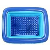 YIWANGO Aufblasbare Lounge Pool Hinterhof Outdoor Garten Schwimmen Zentrum Spielzeug Pool Paddeln Für Erwachsene Kinder Kinder Baby Kleinkinder,180x140x65cm