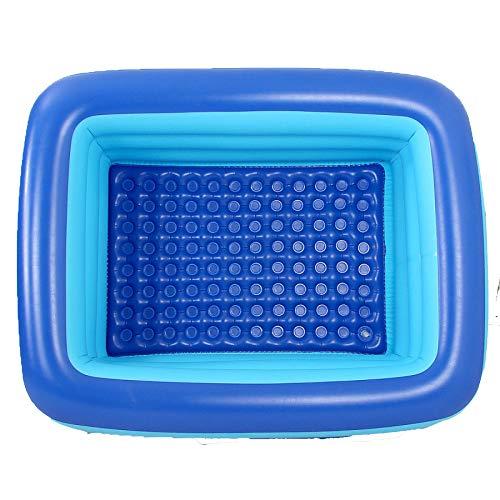YIWANGO Aufblasbare Lounge Pool Hinterhof Outdoor Garten Schwimmen Zentrum Spielzeug Pool Paddeln Für Erwachsene Kinder Kinder Baby Kleinkinder,150x110x55cm