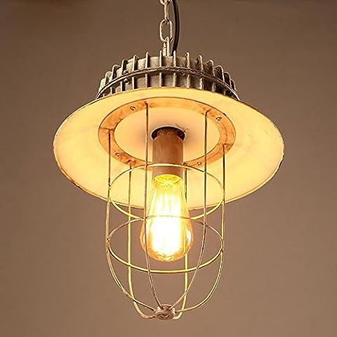 BJVB Tipo retro Industrial Edison estilo dormitorio salón lámpara colgante hierro araña sola cabeza Birdcage pantalla lámpara casquillo hierro techo lámparas de la lámpara casquillo del hierro