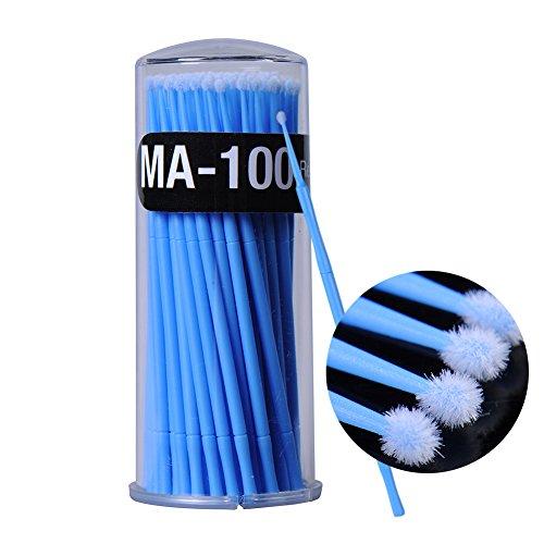 Mascara-Mikrobürstchen, 100 Stück, 3 mm, Einweg-Bürsten, Wimpernverlängerung