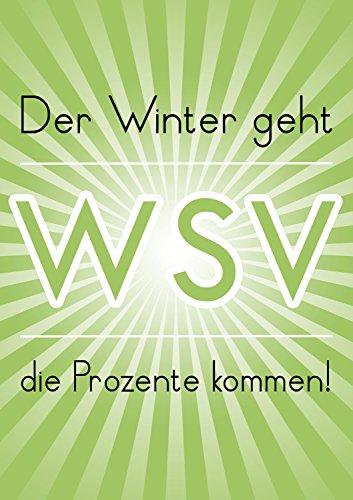 Poster Plakat Der Winter geht - WSV in Hellgrün DIN A1 2Stk. im Kundenstopper Sparset