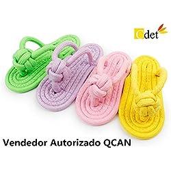 Cdet 2X Masticar juguetes ropes zapatillas perro juguetes resistente a morder los dientes juguetes de perro multicolor zapatillas de algodón para mascotas,Color aleatorio,8*15CM