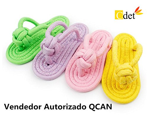 Cdet 2X Masticar Juguetes Ropes Zapatillas Perro Juguetes Resistente a morder los...