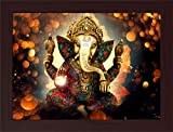 PPD Ganesh ji Framed Painting wall painting for room decor painting.- (45 x 30 x 3 cms framed painting)…