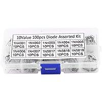 100 Stücke 10 Werte Gleichrichter Diode Sortiment Elektronische Kit 1N4001~1N4007 1N5817~1N5819 Mit Box