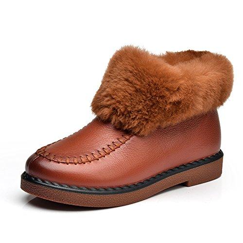 Et vers le bas pour garder chaud en hiver neige bottes tube court/Plate-forme basse bottines A