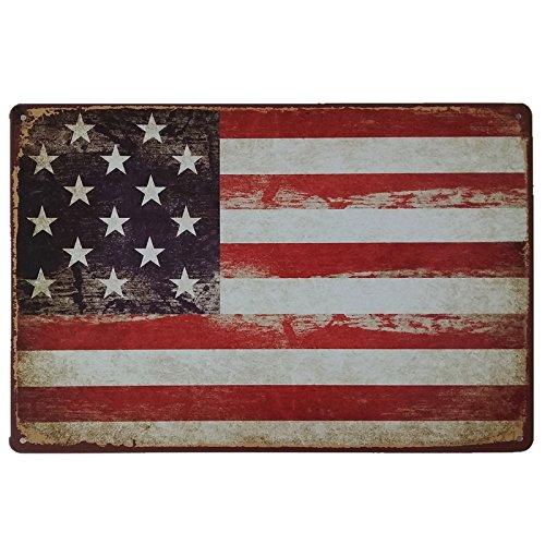 Desconocido Schilder, Plakate und Poster Vintage Amerikanische Flagge, USA, USA, USA, USA, USA, Stangen und Sterne. Dekorative Metallbleche für die Wand. 20 x 30 cm Retro Blechschild