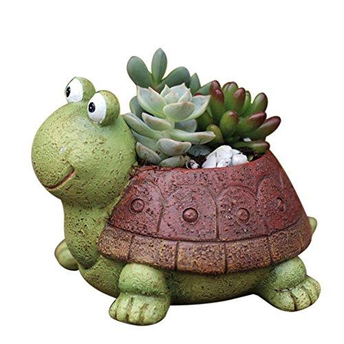 Zdmathe Niedlichen Tier Förmigen Cartoon Dekoration Sukkulenten Übertopf Blumentöpfe (Schildkröte)