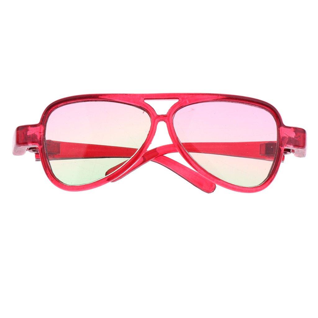 Sharplace Occhiali Specchio Montatura Ovale Moda Per 1/3 Bambola Accessori Plastica Regalo - Verde