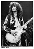 Plakat / Poster Led Zeppelin Jimmy Page Earls Court Mai 1975, ca. 84 x 58 cm