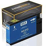 1x Druckerpatrone Komp. für hp 951xl 951 XL Cyan Blau für HP Officejet Pro