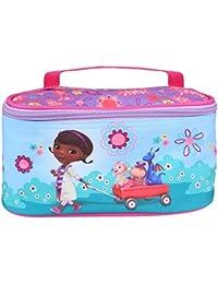 Neceser Viaje para Niña Doctora Juguetes - Bolso Cosmético y de maquillaje rectangular con agarradera - Organizador de maleta para pequeños objetos y juguetes - Azul Rosa - 21x11x10 cm - Perletti