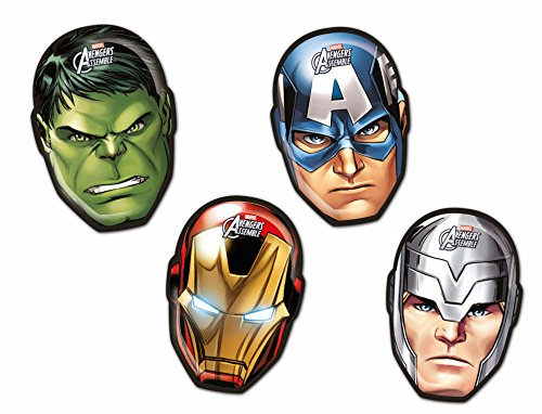 Face Form Avengers Assemble Party Teller, 4Stück (Party Age Ice Supplies)