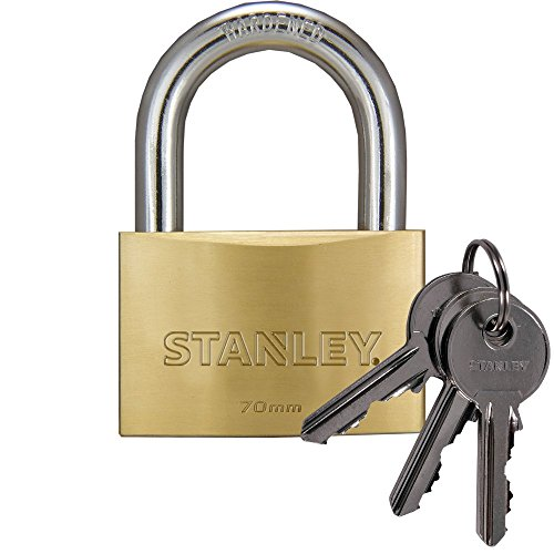 Stanley S742-034 Candado macizo de con arco estándar, 3 llaves, 1 uni