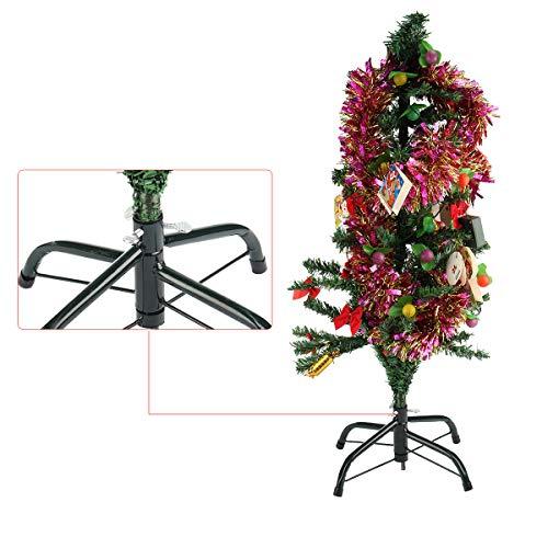 HELEISH Künstlicher Weihnachtsbaum-Stand-Grün-Standfuß-Feiertags-Ausgangsdekoration des Weihnachtsbaum-4ft Zubehörwerkzeug -