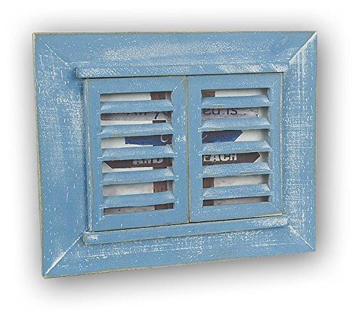 Unbekannt ZEP 57AB Varazze Bilderrahmen, Fenster-Design, 13x 18cm, blau, 13 x 18 cm
