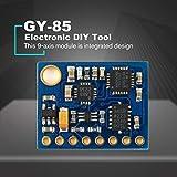 Lorenlli Ajuste GY-85 9axis Attitude Módulo de Sensor IMU ITG3200 / ITG3205 ADXL345 HMC5883L Kit de Placa de precisión Integrado IIC para Arduino DIY