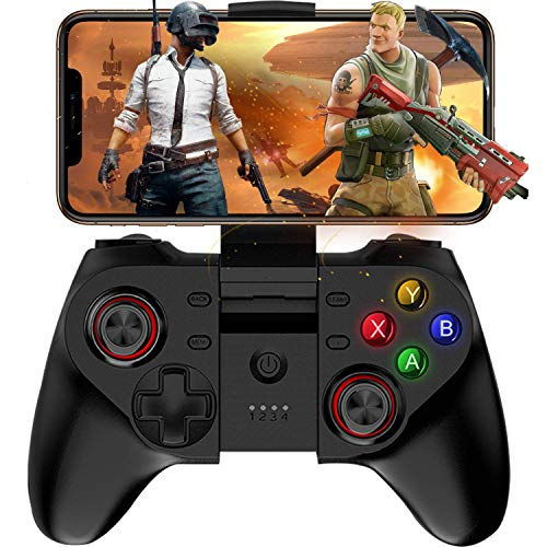 Preisvergleich Produktbild HWZDQLK Mobiler Gamecontroller,  Wireless Key Mapping Gamepad Joystick Perfekt for PUBG & Fotnite & More,  Kompatibel for iOS Android iPhone iPad Samsung Galaxy Anderes Telefon & Tablet PC