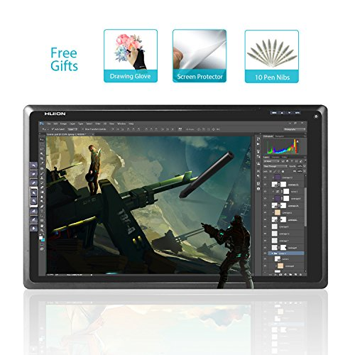 Get Huion GT-185 18.5 Inch Graphic Drawing Monitor with 8 Express Keys (2048 Pen Level, 5080 LPI, Glove and Screen Protector Included)