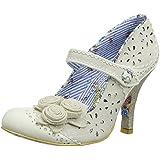 Irregular Choice Echo Cream Blue Womens Mary Jane Heels Shoes