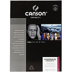 Canson infinity - Satin Premium RC - 206231010 - Papier Photo - Format A3 - 25 feuilles - Blanc