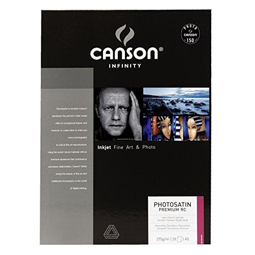 Canson Infinity PhotoSatin Premium RC 270 g/m2 - Papel fotográfico, caja 25 hojas, A3-29,7 x 42 cm