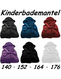 Kinder Bademantel Microfaser Kuschel Fleece Gr.: 152 Lila