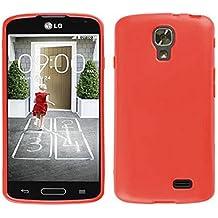 TBOC® Funda de Gel TPU Roja para LG F70 D315 de Silicona Ultrafina y Flexible