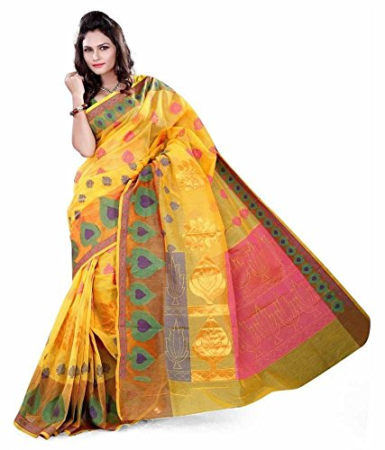 Asavari-Fresh-Yellow-Cotton-Banarasi-Weaved-Saree